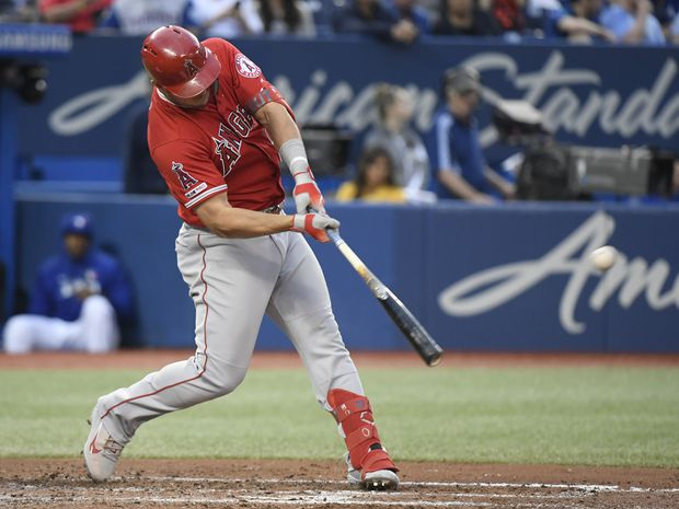 Trout's two home runs leads Angels past Blue Jays