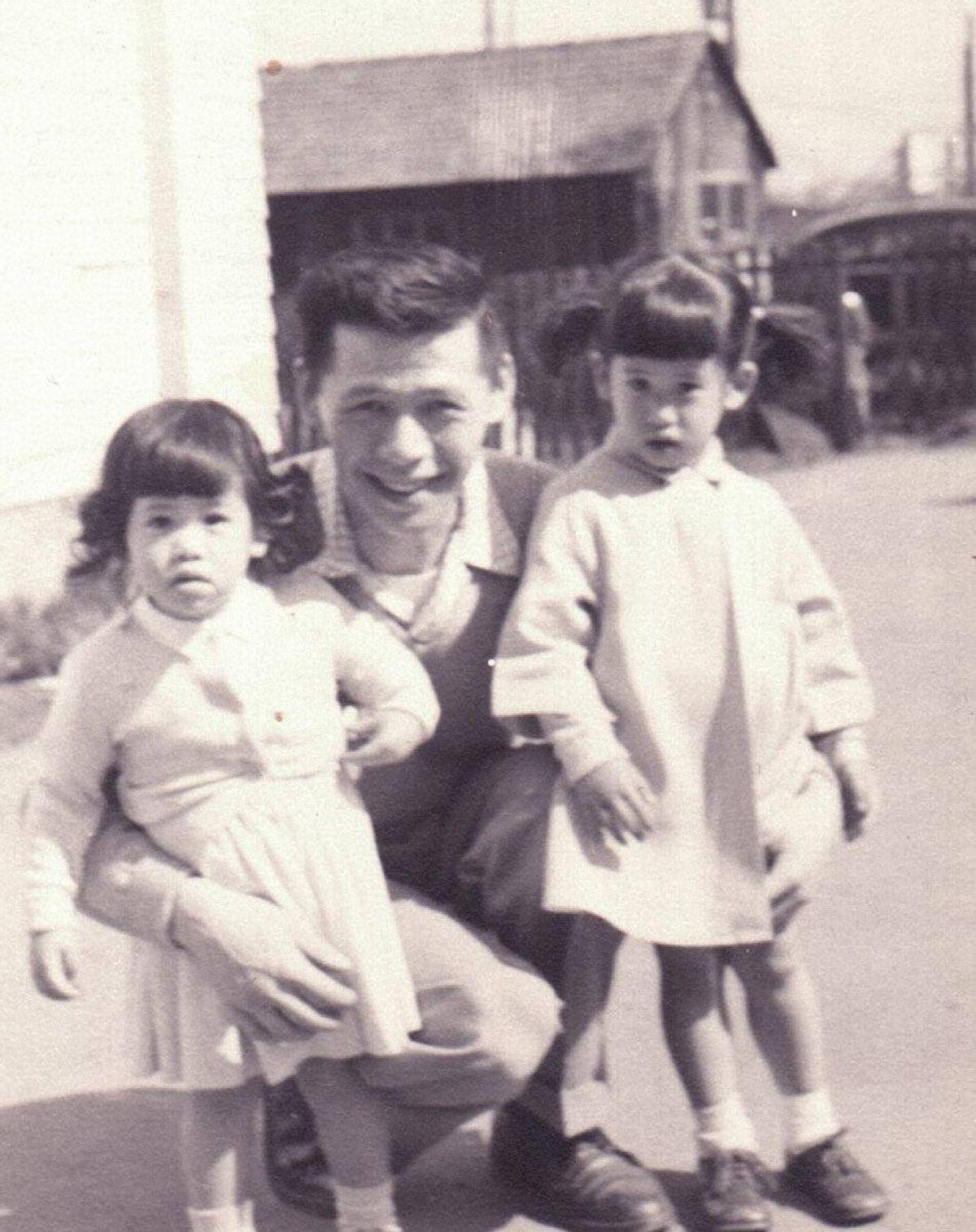 his is a photo of my dad with me (on the left) and my sister. This photo was taken in 1956. He's a wonderful man and I love him. I am blessed to still have him in my life.
