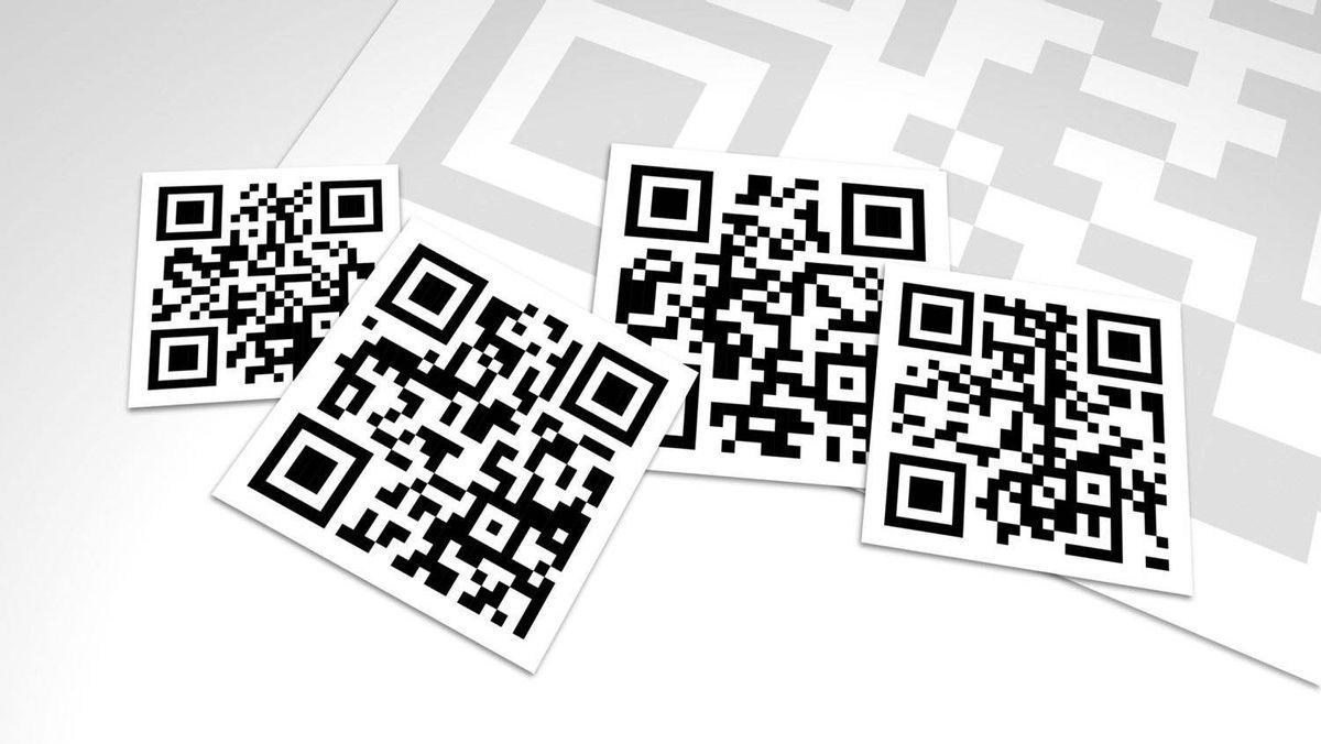 QR Codes Collage Design Close-Up