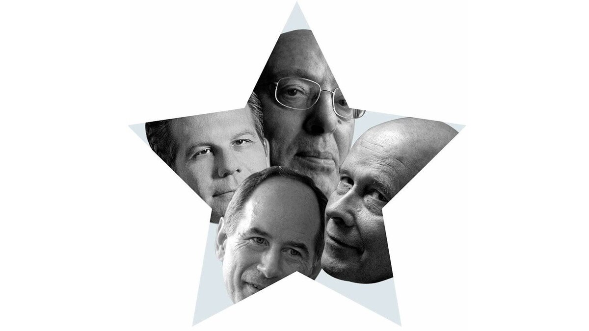 Clockwise, from top: Henry Mintzberg, Karl Moore, Roger Martin and Richard Florida.