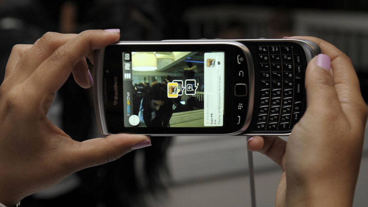 Blackberry Torch, seen at a Research In Motion event in August, 2011.
