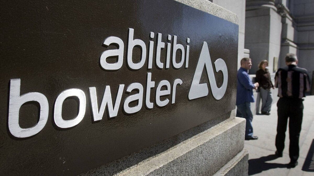 AbitibiBowater head offices are seen in Montreal.