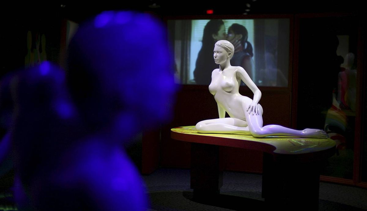 May 23, 2012: A display of male and female statues is seen at the SEX: A Tell-all Exhibition at the Canada Science and Technology Museum in Ottawa. DAVE CHAN for The Globe and Mail