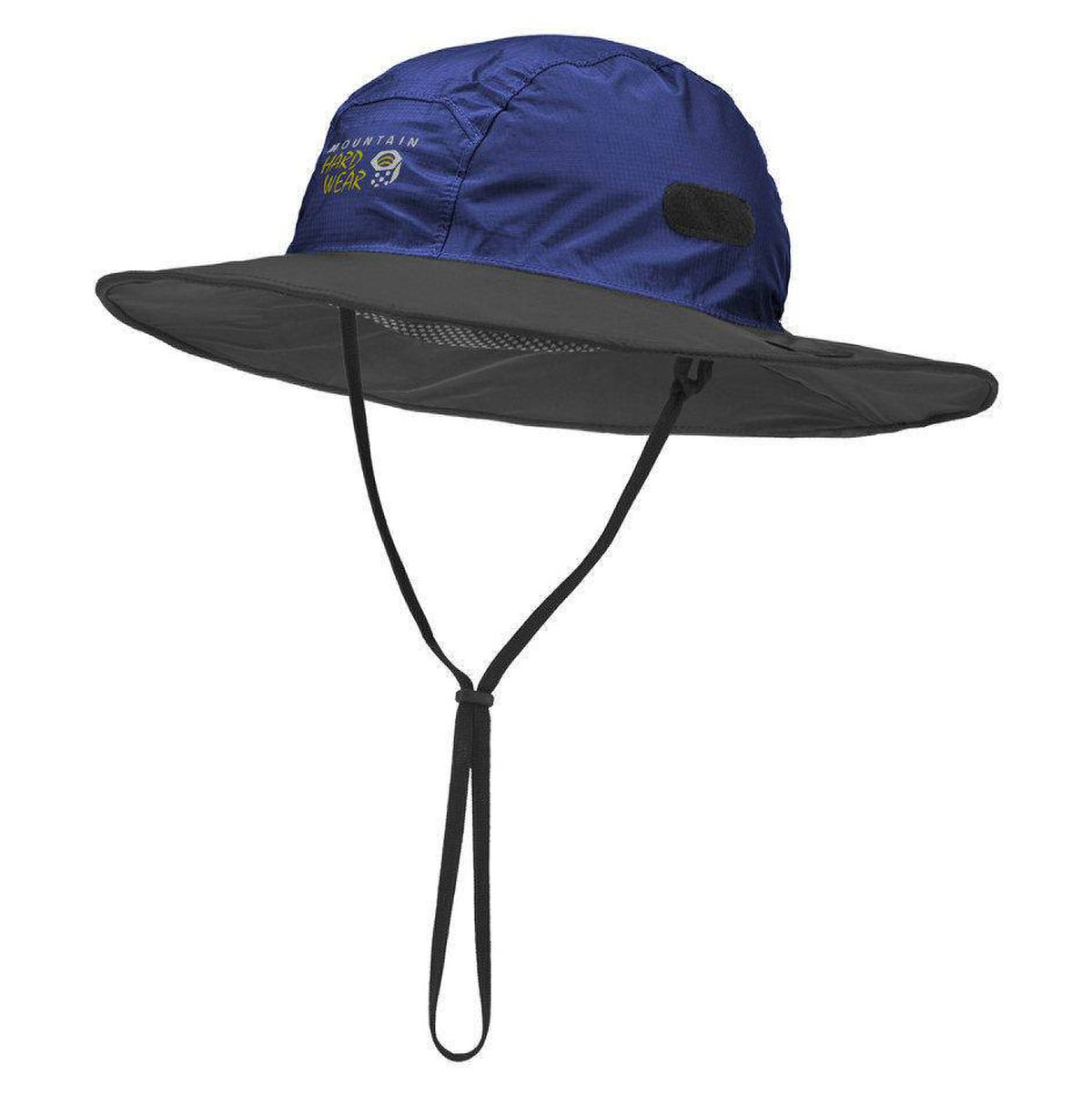 Dry Keep your head protected in rain and shine with Mountain Hardwear's Downpour Wide Brim Rain Hat. The generously sized top acts as a sun shield, while its waterproof Epic fabric (the same material that goes into the company's rain jackets) guards against seepage during heavy showers. Unexpected wind gusts won't be a threat thanks to an adjustable draw cord chinstrap. $49.99; liveoutthere.com