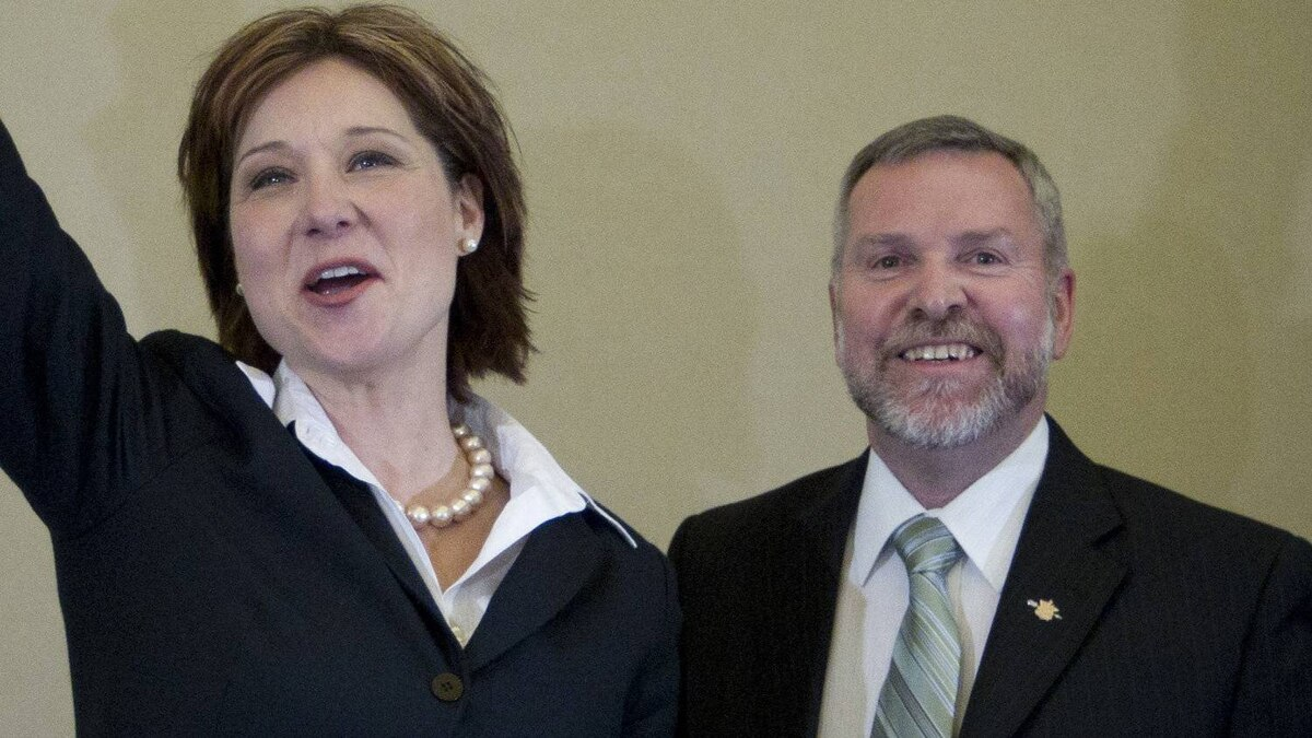 Christy Clark and John van Dongen in happier times. Mr. van Dongen quit the B.C. Liberals to join the B.C. Conservatives on March 26th, 2012.