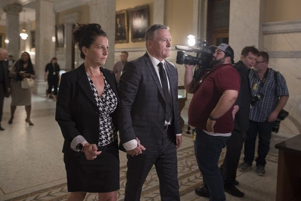 Brad Blair appears in public for first time to call for public inquiry into his allegations, launch $15-million wrongful dismissal lawsuit