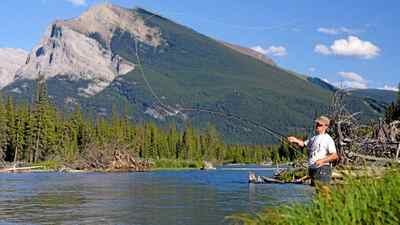 Fly fishing and fish habitat on the world famous Bow River, seen here near Canmore, Alta., has been seriously affected by silt from a faulty TransAlta hydroelectric facility.