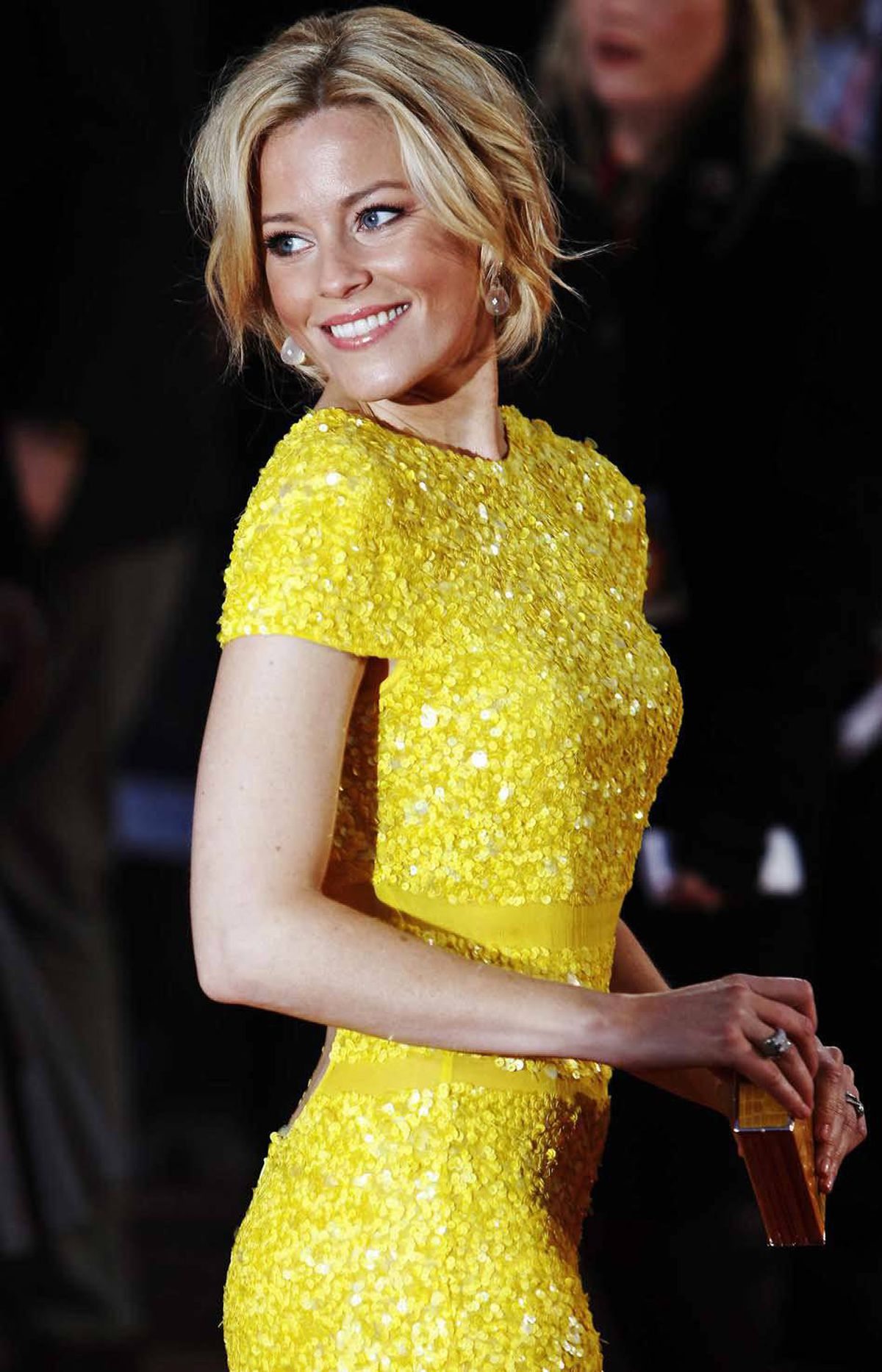 "Here is Elizabeth Banks at the premiere of ""The Hunger Games"" in London, England, last week."