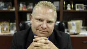 Toronto city Councillor Doug Ford, Mayor Rob Ford's brother, in his business office in Etobicoke Feb. 16, 2011.