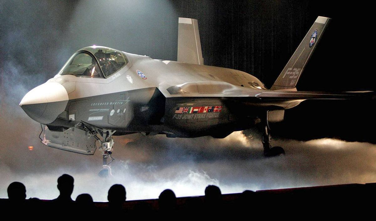 The Lockheed Martin Joint Strike Fighter is shown after it was unveiled in a ceremony in Fort Worth, Texas, in this July 7, 2006, file photo.
