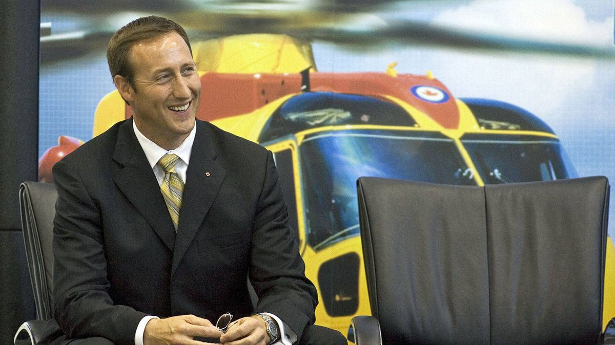 Defence Minister Peter MacKay waits to make an announcement on a search-and-rescue helicopter maintenance contract in Halifax on Sept. 12, 2007.