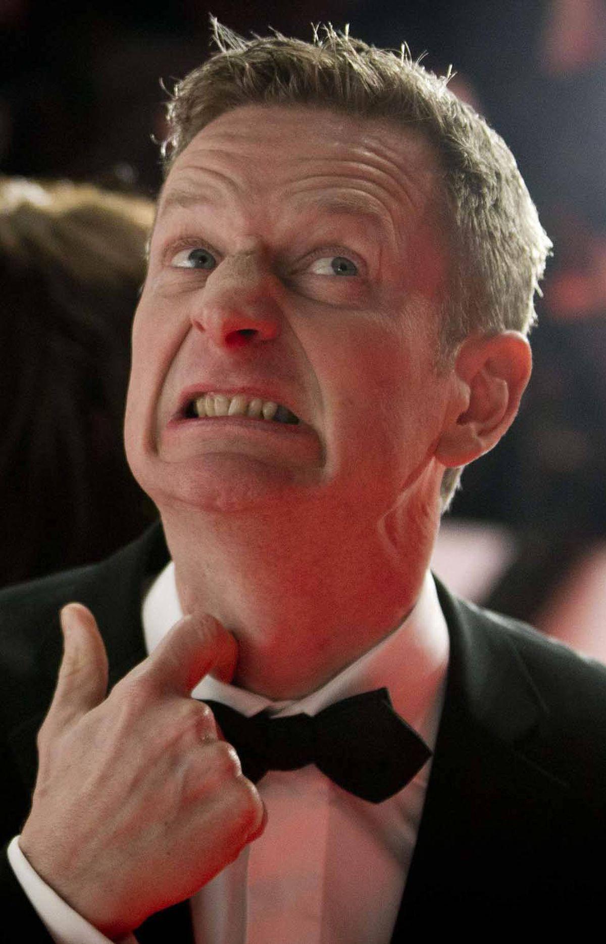 "German comedian Michael Kessler arrives on the red carpet for the ""Goldene Kamera"" (Golden Camera) awards ceremony in Berlin last week."