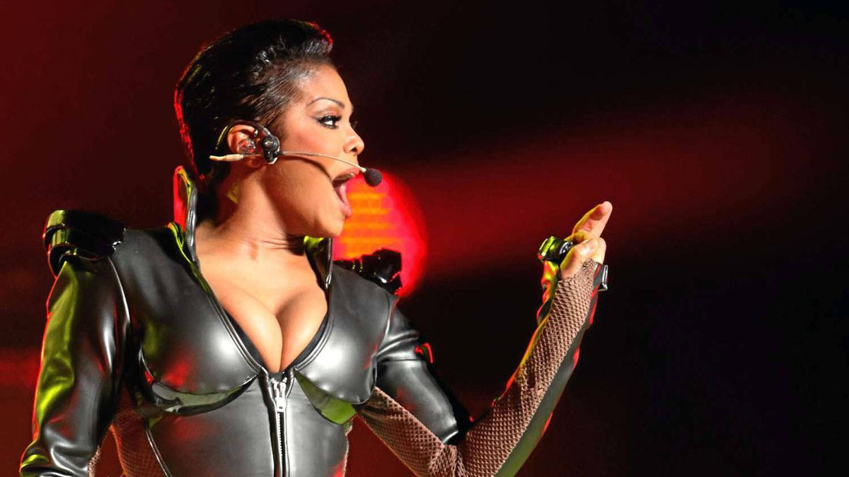 Janet Jackson performs live to a packed Sony Centre in Toronto on Saturday.