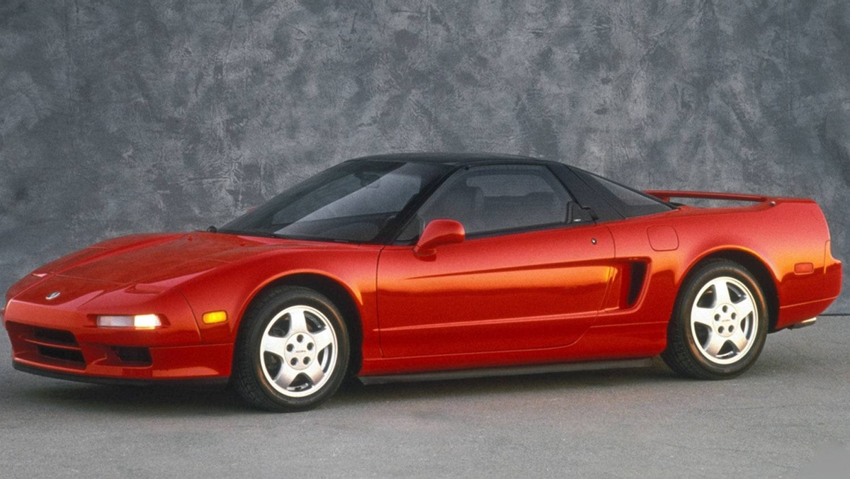The 1991 NSX, the world's first all-aluminum production car.