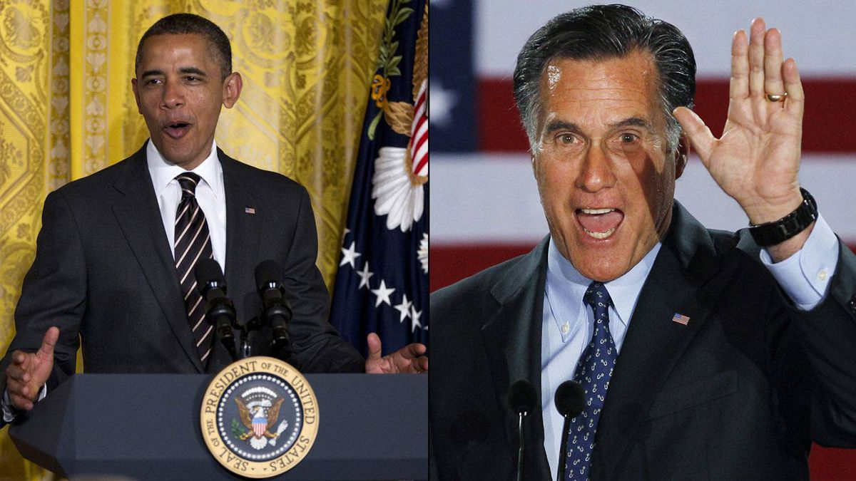 Barack Obama and Mitt Romney.