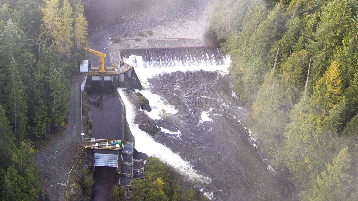 BC Hydro's Salmon River Diversion seen here October 13, 2011.