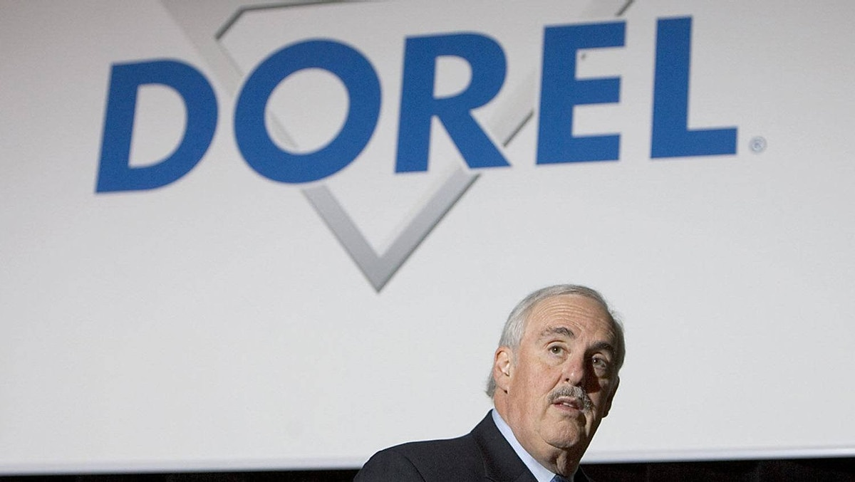 Martin Schwartz, president and chief executive officer of Dorel Industries Inc., speaks during their annual general meeting in Montreal, June 21, 2006.