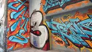 Graffiti, Queen Street alley, Toronto