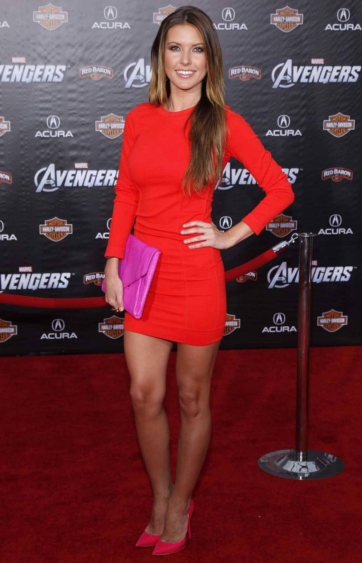 """Reality TV """"personality"""" Audrina Patridge was inexplicably present and as visually appealing as a bad case of thrush at the premiere of """"Marvel's The Avengers"""" in Hollywood last week."""