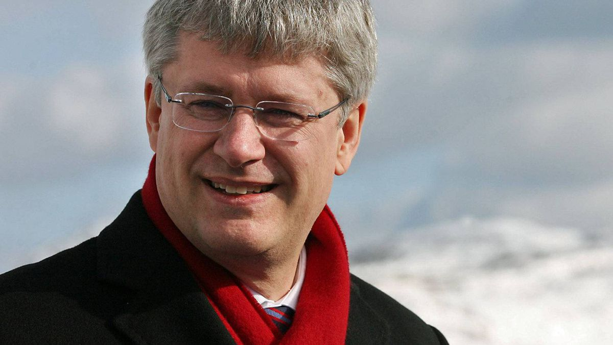 Prime Minister Stephen Harper attends the the christening of a new ferry in St. John's on Feb. 11, 2011.