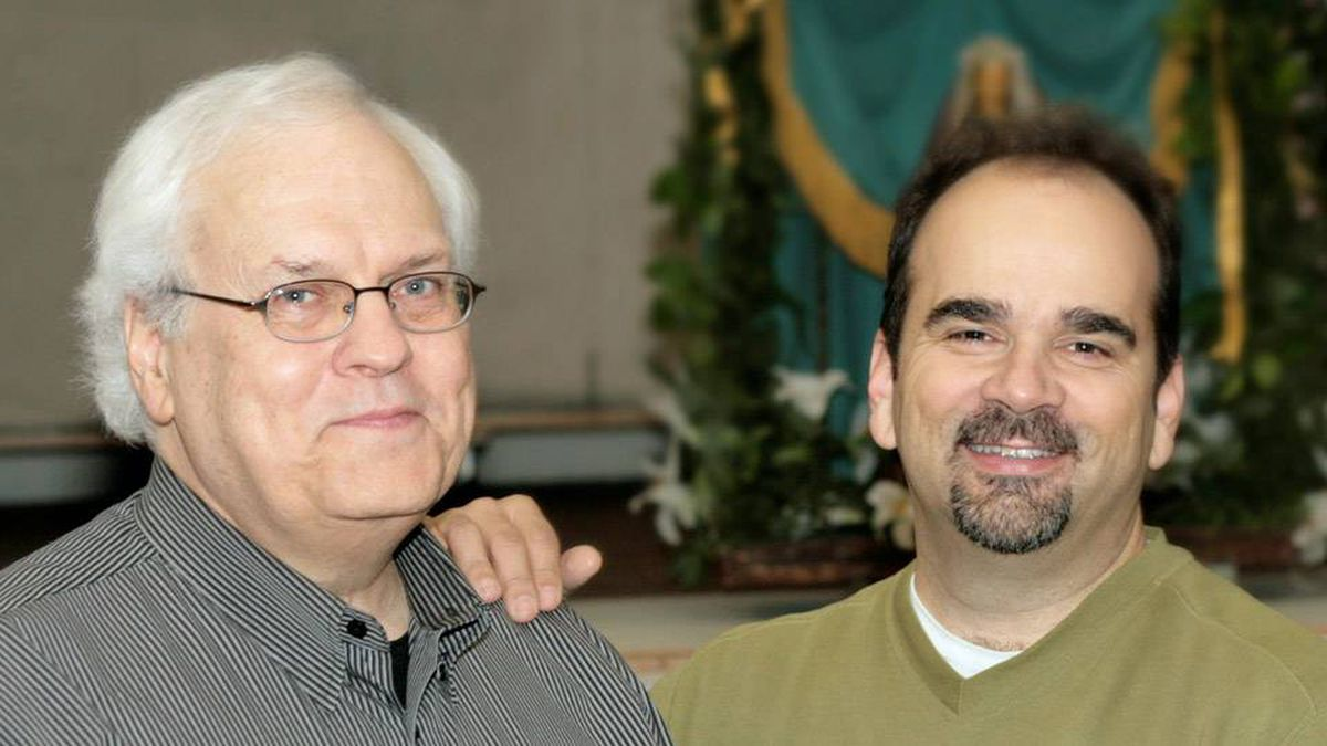 Librettist John Murrell, left, and composer John Estacio have been working on the Vancouver Opera production of Lillian Alling.