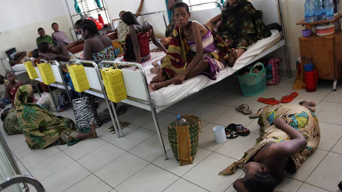 This Tanzanian hospital is often so full it has to put two expectant mothers in the same bed.