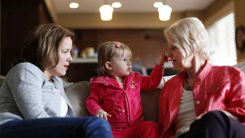 Cassie Campbell-Pascall at home with her daughter Brooke and her mom Eunice in Calgary on May 3, 2012.