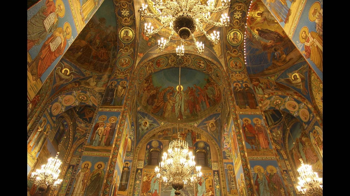 Philip Neelamegam photo: Mossaic work - inside the Church of our savior on spilled blood - St Petersburg Russia.