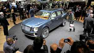 The new Bentley EXP 9F car.