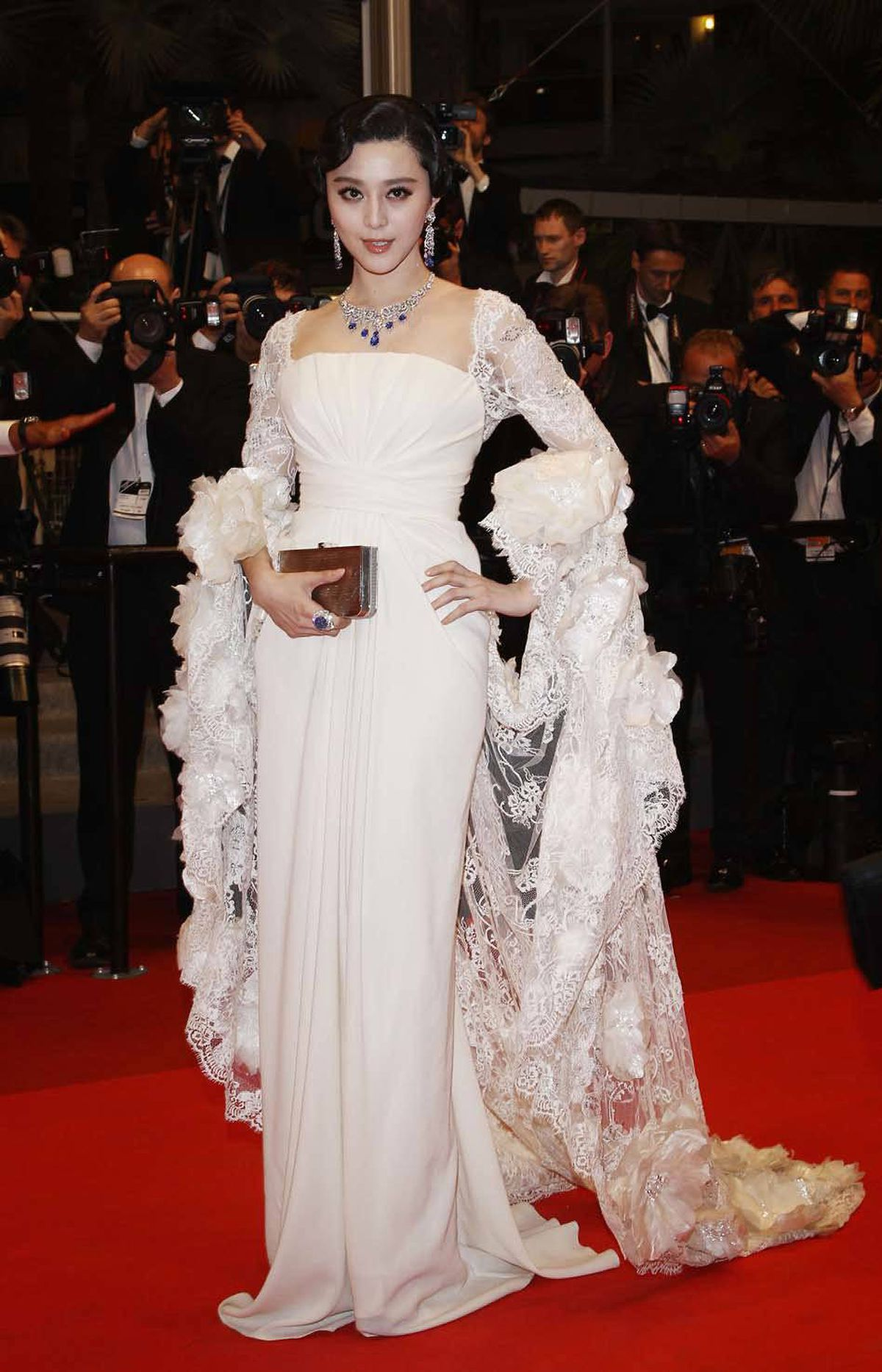 """Chinese actress Fan Bingbing attends the """"Polisse"""" premiere at the Cannes Film Festival on Friday."""