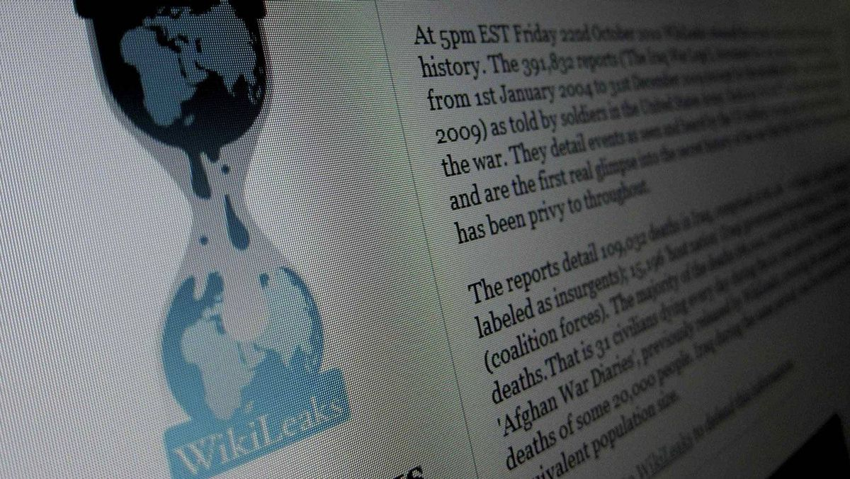 The home page of the Wikileaks.org website is pictured on a computer in Hoboken, New Jersey, November 28, 2010. State Department documents released by whistle-blowing website WikiLeaks provided candid views of foreign leaders and sensitive information on terrorism and nuclear proliferation, the New York Times reported on Sunday.