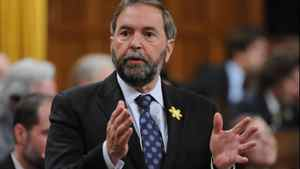 New Democratic Party leader Thomas Mulcair asks a question during question period in the House of Commons on Parliament Hill in Ottawa on Thursday, April 26, 2012.