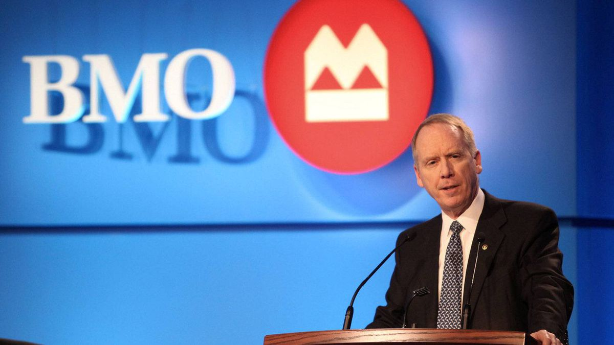 BMO president and CEO Bill Downe takes the podium at the bank's annual general meeting in Halifax, March 20. BMO kicks off second-quarter bank earnings' reports on Wednesday.