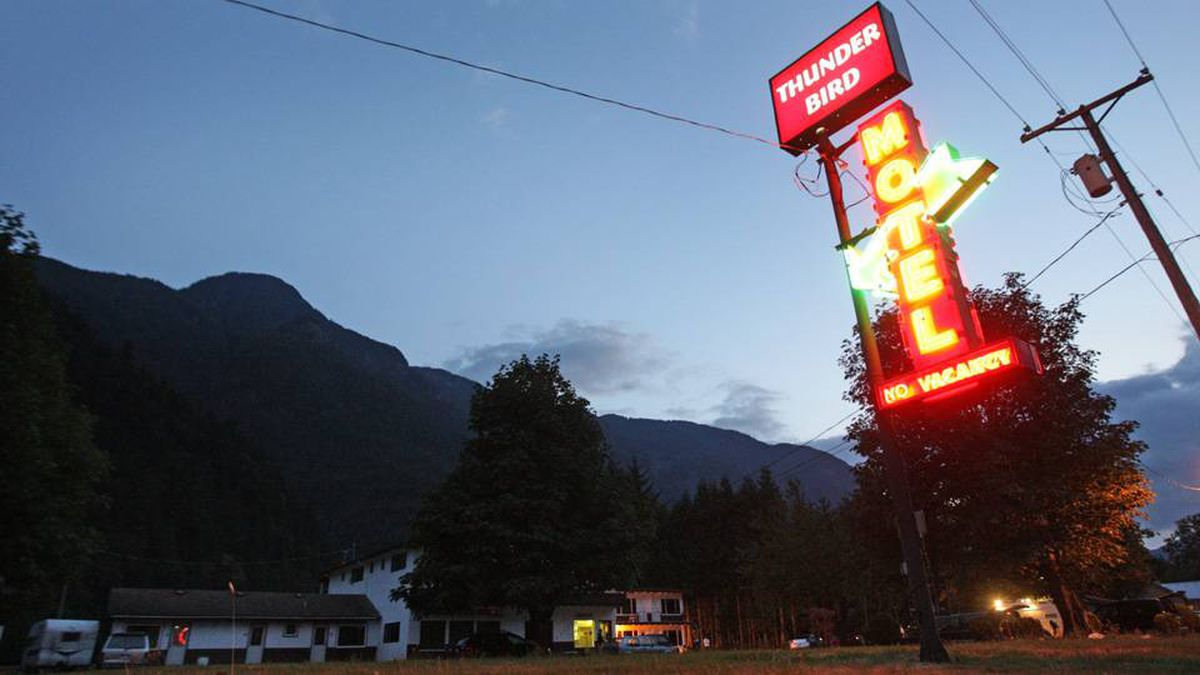 The Thunderbird Motel where fugitive Ryan Jenkins was found dead is pictured in Hope, B.C., on Sunday August 23, 2009. RCMP say fugitive murder suspect Ryan Jenkins has been found dead of an apparent suicide in a motel in the town of Hope about 90 minutes east of Vancouver.