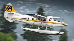 A Harbour Air floatplane comes for landing into Vancouver's Coal Harbour June 3, 2010.