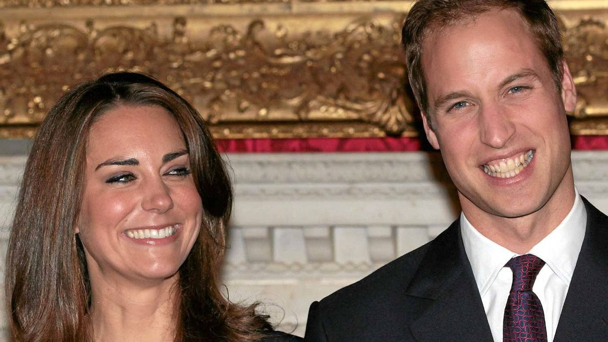 Get used to this: Prince William and Kate Middleton on the day their engagement was announced.