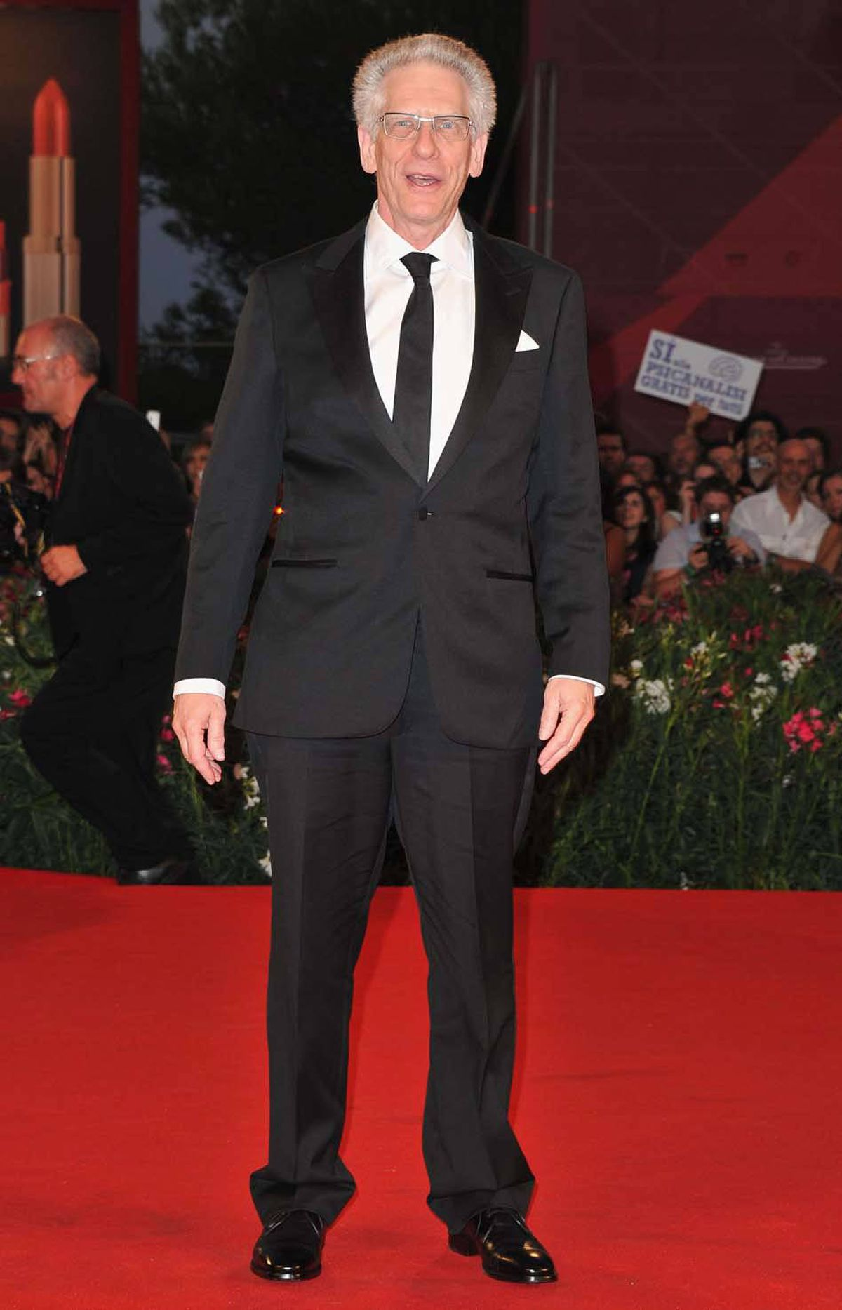 """Canadian director David Cronenberg attends the premiere of his film """"A Dangerous Method"""" at the Venice Film Festival on Friday."""