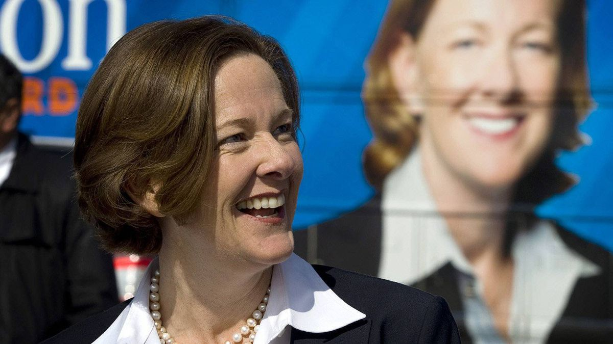 Alberta PC leader Alison Redford makes a campaign stop in Aldersyde, Alta., Tuesday, March 27, 2012. Albertans go to the polls on April 23.