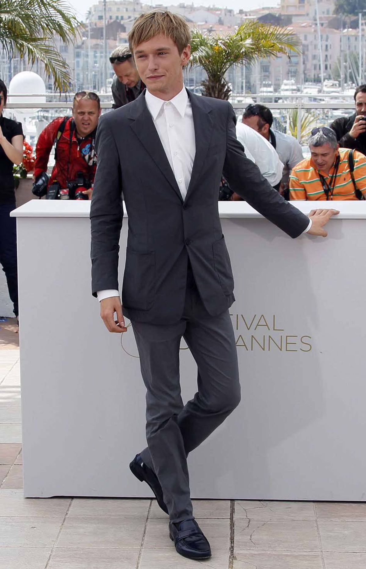 """Actor Henry Hopper poses during the photo call for the film """"Restless"""" at the Cannes Film Festival on Friday."""