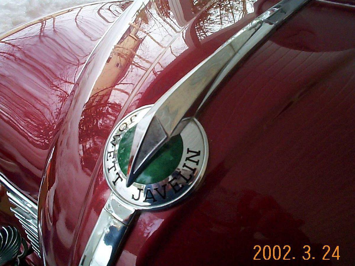 Hood of the 1950 Jowett Javelin Deluxe
