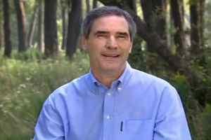 Federal Liberal leader Michael Ignatieff is shown in a frame from a new Liberal television that hit the air on Sunday Sept. 6,2009. Ignatieff is taking the high-road - or at least a peaceful wooded path - in the first set of television ads produced since he was named Liberal leader.