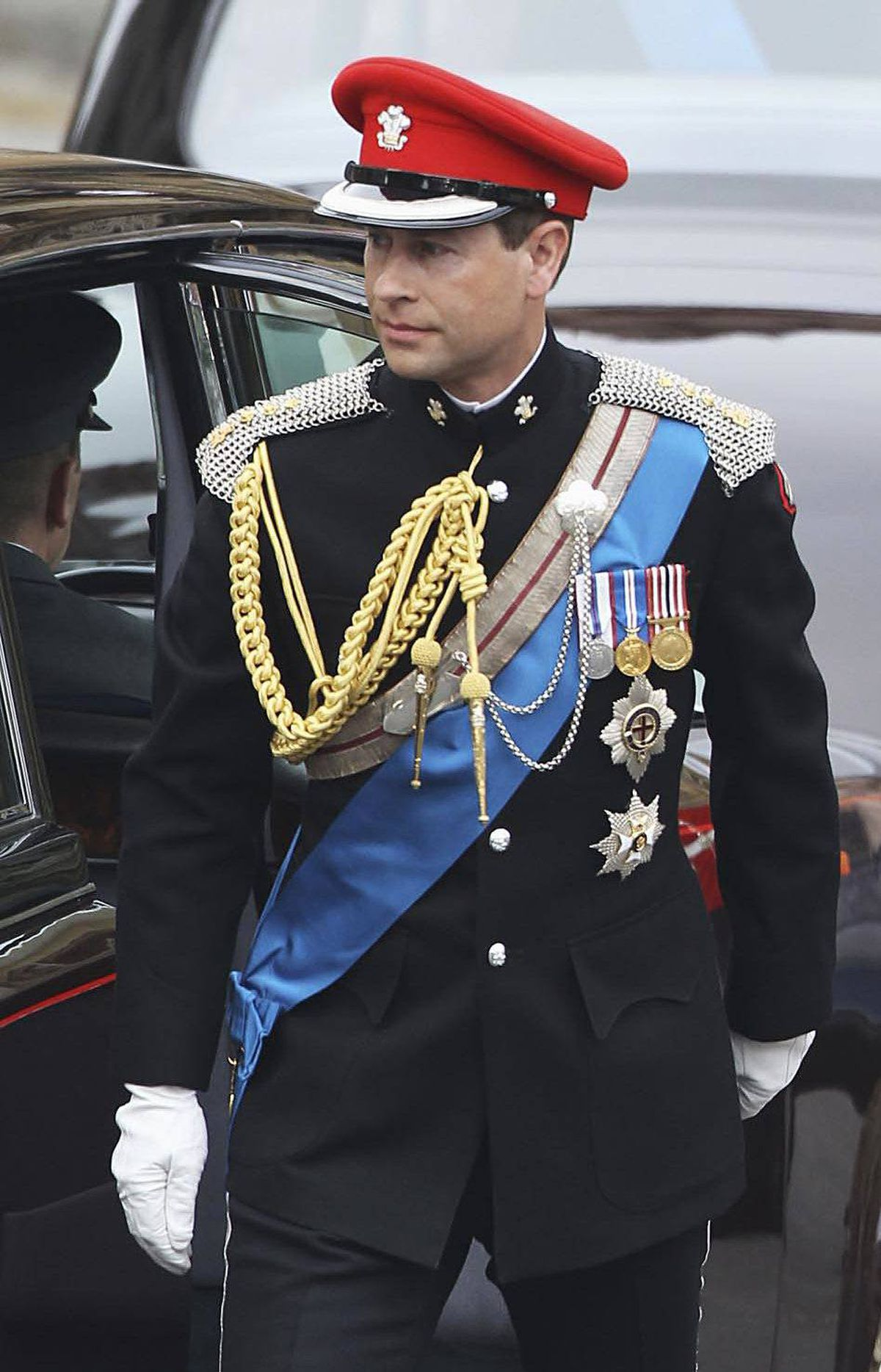 Prince Edward, Earl of Wessex arrives to attend the Royal Wedding of Prince William to Catherine Middleton at Westminster Abbey on April 29, 2011 in London, England.