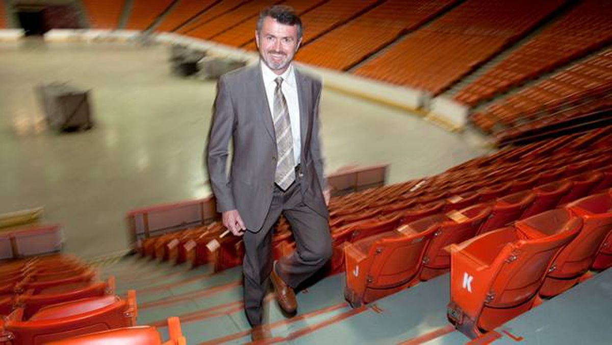 Scott Ferguson, Interim President and CEO of Trade Centre Limited stands in the Halifax Metro Centre arena Monday.