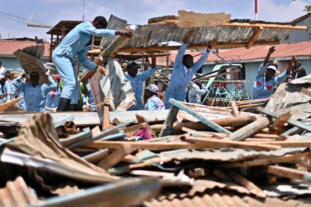 Seven children killed in Nairobi school collapse
