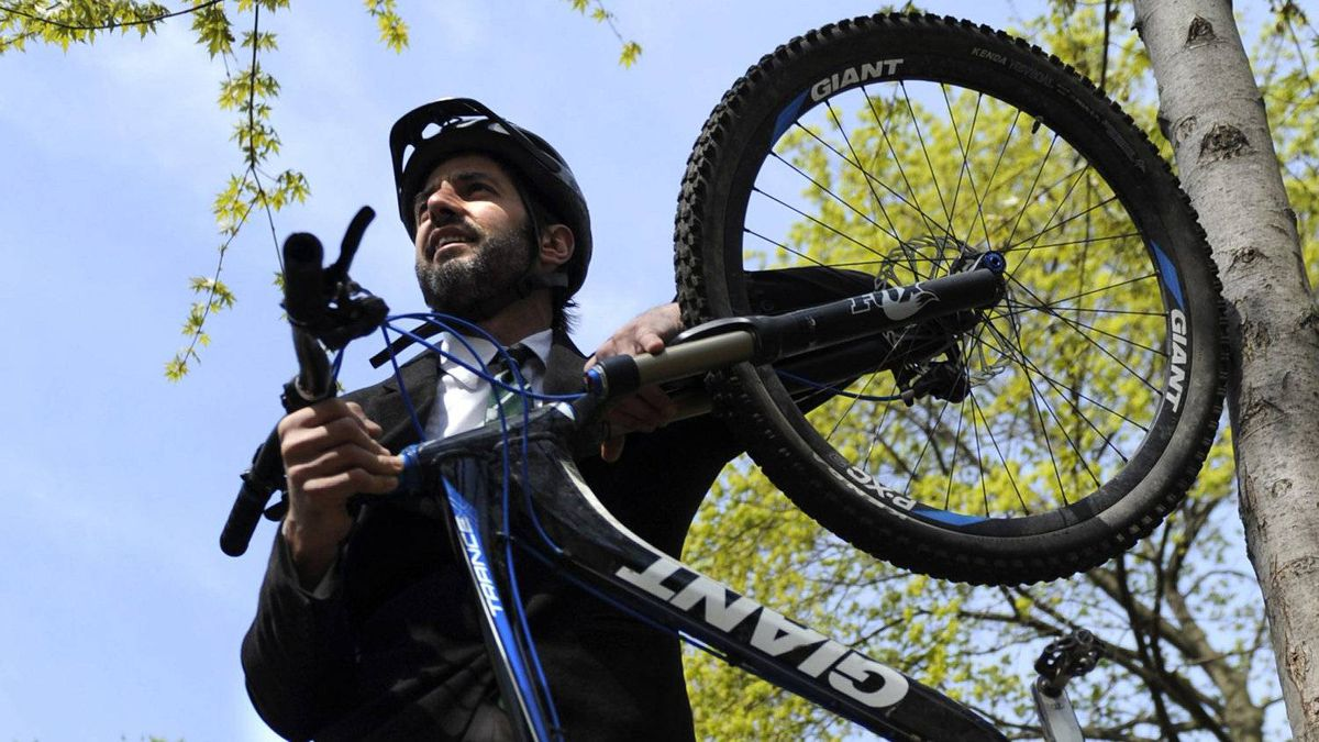 Sacred Rides Mountain Bike Adventures founder and president Mike Brcic, with his mountain bike