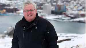 Karl Kenny, co-founder of Marport Canada Inc., at Signal Hill, overlooking the city of St. John's.