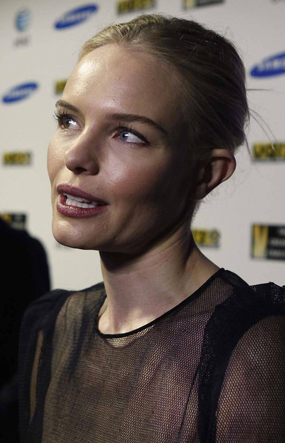 Kate Bosworth's head is way too big for her neck at the Sundance Film Festival in Park City, Utah, on Sunday.
