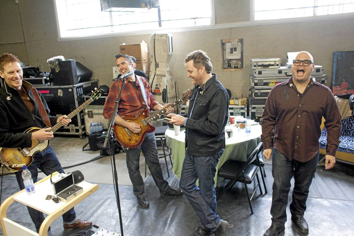 The Barenaked Ladies rehearse for their upcoming tour. From left, Jim Creeggan, Ed Robertson, Kevin Hearn, Tyler Stewart.