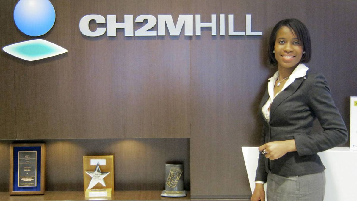 Shanel Thomas, a receptionist at CH2M Hill Canada Ltd., an engineering firm in Toronto, says the MicroSkills program gave her an opportunity when she needed it.
