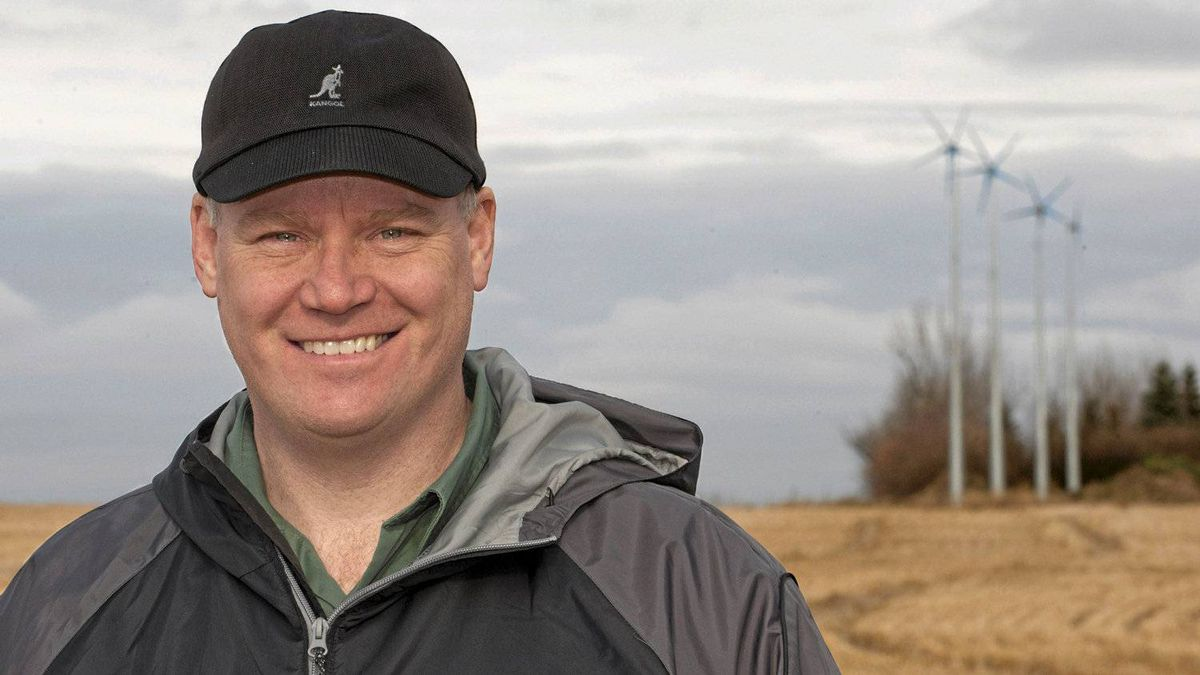 Darryl Jessie is president of Raum Energy, a Saskatoon company that makes small wind turbines for farms and customers in developing countries.